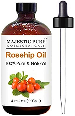Rosehip Oil - 100% Pure 120ml - Certified Organic Cold Pressed Highest Quality Rose Hip Seed Oil - Natural Moisturiser, Rich in Vitamins, Antioxidants and Essential Fatty Acids - Best for Face, Skin & Hair - Softens, Hydrates and Heals Dry Skin, Known ..