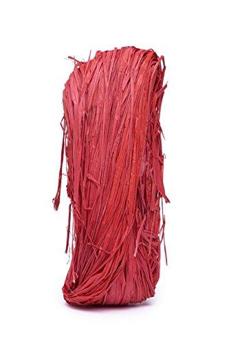 URSUS Raffia-Naturbast, rubinrot VE = 1