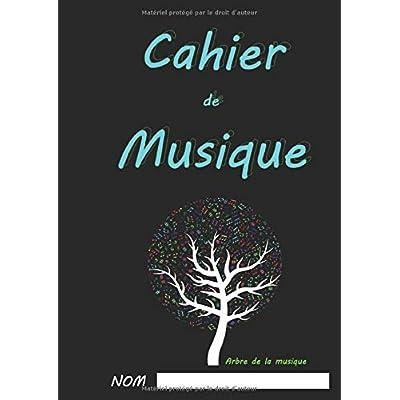 Cahier de Musique: Format A4,21 x 29.7 cm,8 portées par page, 110 pages.