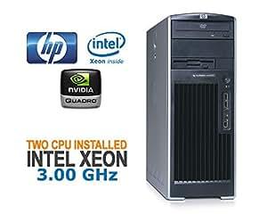 HP xw6200 Workstation 2x Intel Xeon 3.00GHz, 2Go de RAM, NVIDIA Quadro carte graphique sans un système d'exploitation