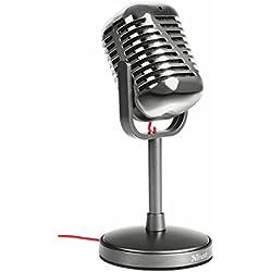 Trust Elvii - Micrófono para escritorio, color gris