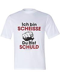 Funshirt - Coole Sprüche-T-Shirt - weiß - Gr. M-XXL