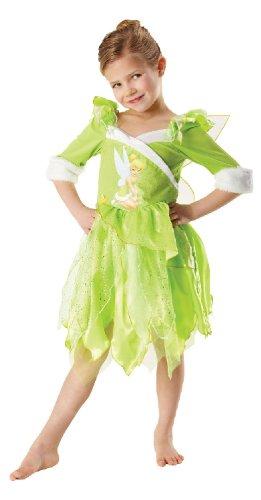 Karneval Kinder Kostüm Fee Elfe Tinkerbell Winter Kleid Größe M
