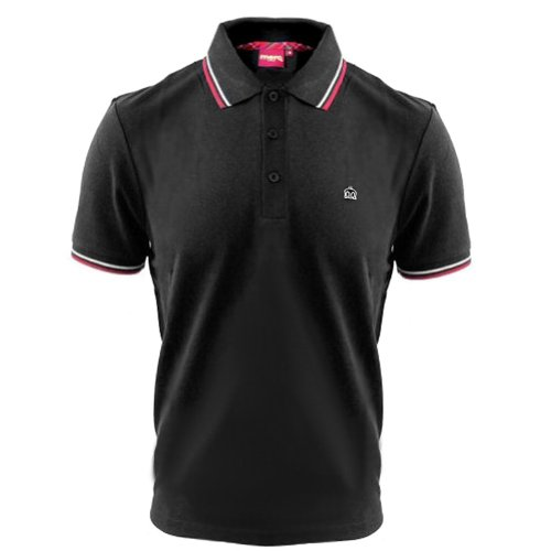 Merc London - Polo avec col ? Rayures - Coton Card? - Noir