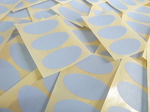 40x20mm Pálido Azul Cielo Forma Ovalada Etiquetas, 75 auta-Adhesivo Código De Color Adhesivos, adhesivo óvalos para Manualidades y Decoración