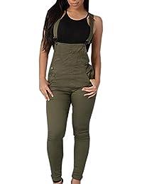 abba38e8dd15d Monos Mujeres Jumpsuit Flaco Petos Tipo Peto Pantalón de Cintura Vaqueros  Casual Pantalón Ocio Estilo Cintura
