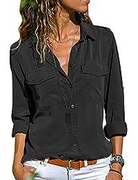 1eca5bfe23 Amazon.it: camicia donna elegante - 5XL / Bluse e camicie / T-shirt ...
