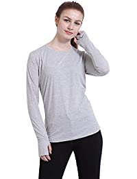 Try This Cotton Slim Fit Full Sleeve Thumbhole Casual Partywear T-Shirt For Women's