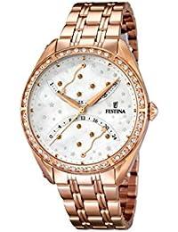University Sports Press  F16742/1 - Reloj de cuarzo para mujer, con correa de acero inoxidable chapado, color oro rosa