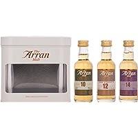 Arran,latta da regalo con whisky singolo malto,in miniatura (contiene 3 miniature da 5cl)