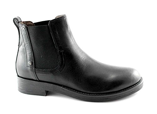 chaussures BLACK JARDINS 4651 bottes en cuir noir homme de beatles Nero