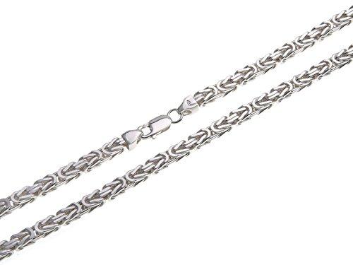 Königskette 4,5mm, Silberkette - Länge wählbar 38-120cm - echt 925 Silber (4.5)