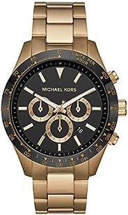 Michael Kors Layton Men's Black Dial Stainless Steel Analog Watch - MK
