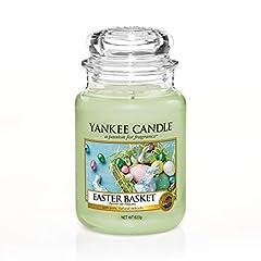 Idea Regalo - Yankee Candle candela profumata in giara grande, Cestino di uova di Pasquaa