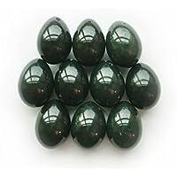 Nephrite Jade Egg, pre-perforado, tamaño mediano, para todos los usuarios, 100% natural y Auténtica, para Yoni masaje y ejercitador de músculos formación. Excelente regalo y juguete, también para Good energía de cristal curativo en meditación, por Polar Jade