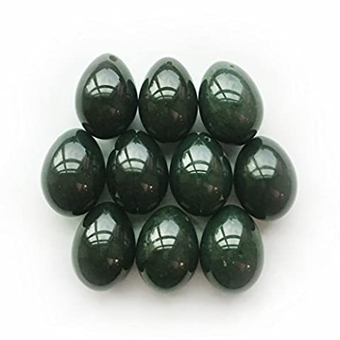 Jade Néphrite œuf, pré-percés, Taille Moyenne, pour tous les utilisateurs, 100% naturelle et authentique, pour Yoni de massage et les muscles du plancher pelvien Formation. Excellente idée cadeau et Jouet, également bon pour l'énergie de guérison en cristal de méditation, par Polar Jade