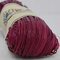 Rafia natural, color arándano, 50g, de la marca Nutscene