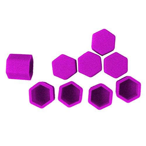 Non-brand Paquet DE 20 Couvercle Vis Boulon Pneu de Voiture 17mm Violet