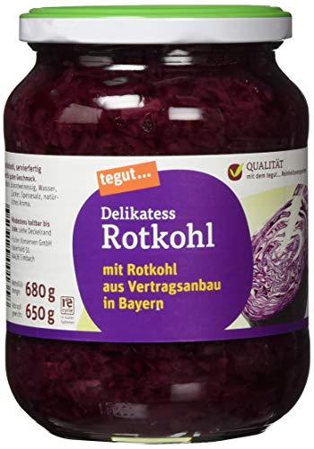 tegut... Delikatess Rotkohl, 650 g