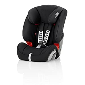 Britax Römer EVOLVA 1-2-3 Group 1-2-3 (9-36kg) Car Seat - Cosmos Black Maxi-Cosi Group 0+ in combination with maxi-cosi cabriofix infant car seat Suitable for children from birth to 13kg (from birth to around 12 months) Simple ISOFIX or belt installation - click and go. Adjustable support leg automatically snaps into correct vertical position 8