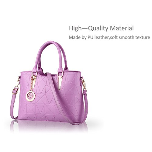 Nicole&Doris Borsa delle signore diagonali mano casuale nuova borsa a mano di spalla di modo di stile(Purple) Porpora