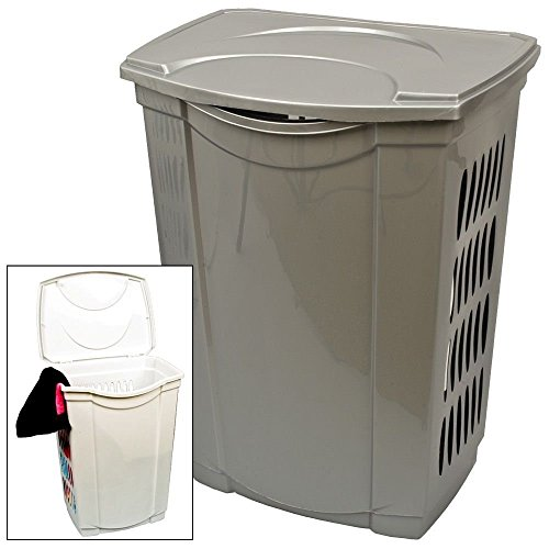 Wäschetonne Wäschekorb Wäschesammler mit Deckel 40 Liter Kunststoff NEU anthrazit