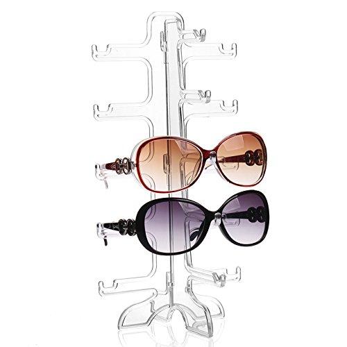 Preisvergleich Produktbild Acryl Brillenständer für 5 Brillen Sonnenbrillen Brillendisplay Brillenhalter Organizer Sonnenbrillenablage Brillenregal Acrylständer Sonnenbrillenständer von der Marke MyBeautyworld24