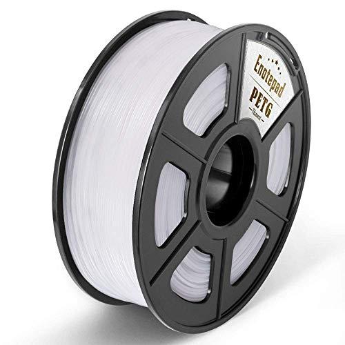 PETG 3D Print Filament, Maßgenauigkeit +/- 0,02 mm, 1 kg/Spool, 1,75 mm, umweltfreundlich Filament geeignet für 3D-Drucker / 3D Print Pen (Weiß)
