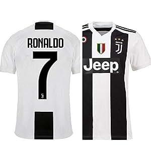 52c6a57b544 Buy aaDDa Juventus Home Ronaldo Printed Set with Shorts 2018-2019 (L ...