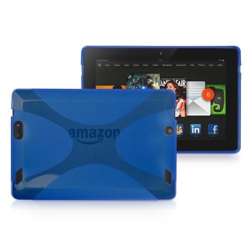 Kindle Fire HD 7.0(2013) Fall, BoxWave® [Body] Premium Strukturierte TPU Gel Haut Schutzhülle für Amazon Kindle Fire HD 7.0(2013)-Super Blue