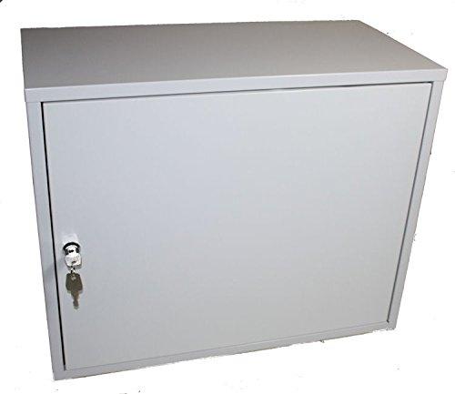 Schaltschrank Metallschrank Verteilerschrank Leergehäuse XXL: 500 x 400 x 250mm (4 Kabeleingänge)
