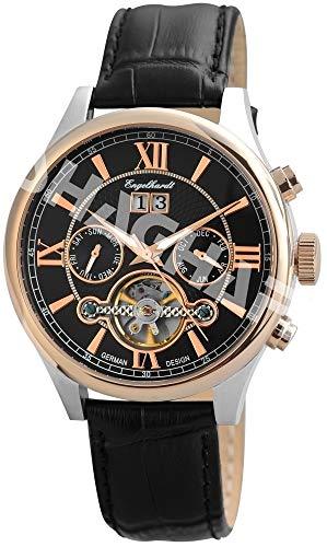 Engelhardt Herren Analog Mechanik Uhr mit Leder Armband 388931029005