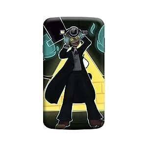 Desicase Samsung Grand Magical Warn 3D Matte Finishing Printed Designer Hard Back Case Cover (Black)