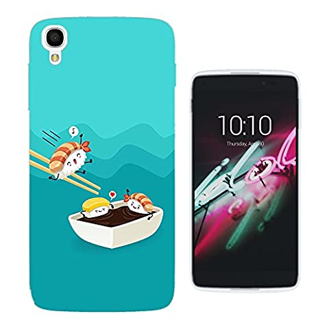 003636 - Kawaii Sushi Fun Design ALCATEL ONE TOUCH IDOL 3 (5.5'') Fashion Trend Protecteur Coque Gel Silicone protection Case Coque
