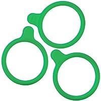 DURAN 292432842 Anillas Marcadas en Silicona, para GL45 DURAN Frascos para Laboratorio, Verde