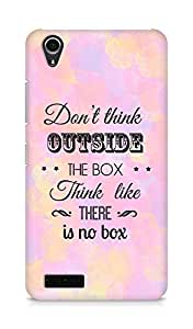 Amez Dont think Outside the Box think like there is no Box Back Cover For Lenovo A3900