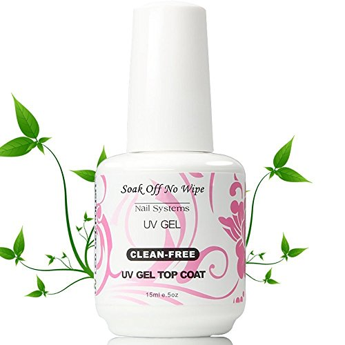 Ushion 15ml Soak Off Water Based klar No Wipe Top Coat Glossy UV/LED Gel-Nagellack Keine Reinigende