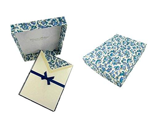 Italienische Luxus-Schreibpapier-Set - Blau Florentine