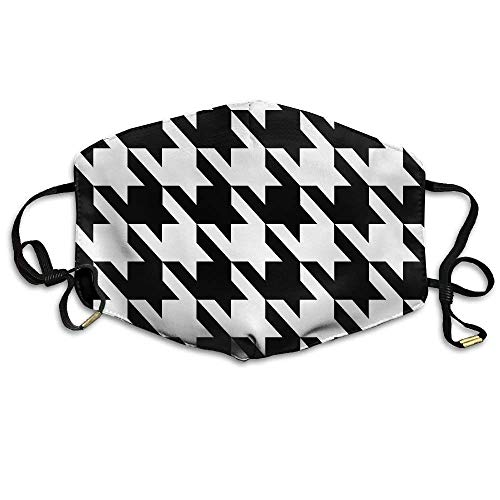 Black & White Prints Houndstooth Anti Dust Breathable Face Mouth Mask for Man Woman Animal Print Tube