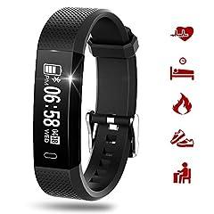 Idea Regalo - Fitness Tracker Cardiofrequenzimetro da Polso Smartwatch Donna Uomo Orologio Braccialetto Fitness Smart Watch Attività Impermeabile Con Monitor Del Sonno, Contapassi, Contacalorie, Pedometro