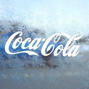 Aufkleber Coca Cola White Decal Window Laptop Vinyl White Sticker (Window Decal)