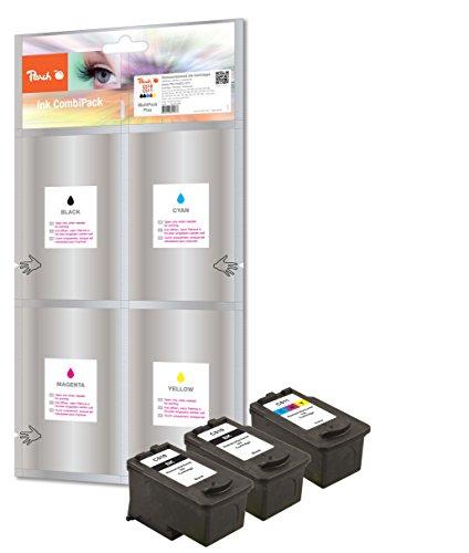 Peach Pack de ahorro Plus cabezales de impresión compatible con Canon PG-510/CL-511