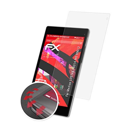 atFolix Schutzfolie passend für Medion LIFETAB P8314 MD 99612 Folie, entspiegelnde & Flexible FX Bildschirmschutzfolie (2X)