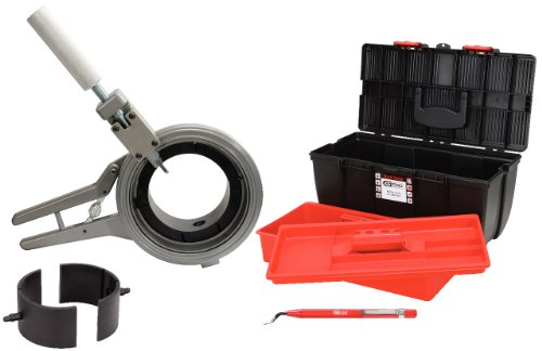 KS Tools 222.5200 Ck160, coupe-tubes et chanfreineurs avec mors 110,125 et 160mm en coffret