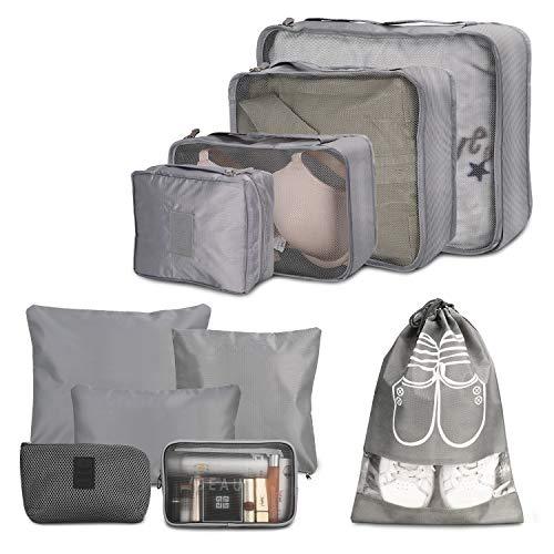 Kofferorganizer, Wokkol Packtaschen, Packbeutel, Kleidertaschen, Kofferorganizer Set, Kleidertaschen für Koffer, Reise Kleidertaschen, Kofferorganizer Geeignet für zu Hause, Lagerung, Reisen(10 PCS)