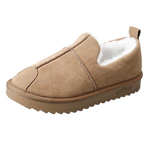 Mujeres de Señoras de Invierno Cálido Más Forrado de Nieve Plana Zapatos Cortos Botines Por ESAILQ