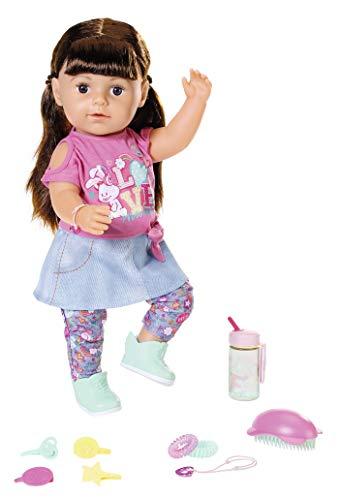 BABY Born 827185 Soft Touch Sister brünett 43 cm, bunt
