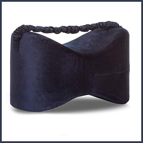 Kniekissen für Seitenschläfer | Orthopädisches Kniekissen | Fördert die Durchblutung & Ausrichtung | Zur Unterstützung bei Ischias, Gelenkschmerzen und Schwangerschaft | Haltbarer Memory-Schaumstoff