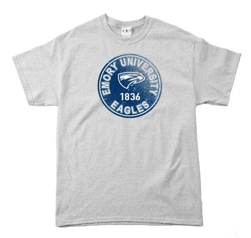 NCAA Emory Eagles 100Prozent, Vintage Circle Short Sleeve Tee, Herren, Grau - Sport Grey -