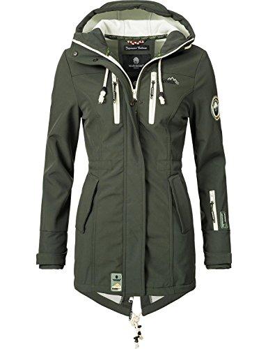 Marikoo Mountain Damen Softshell-Jacke Outdoorjacke Zimtzicke Grün Gr. M